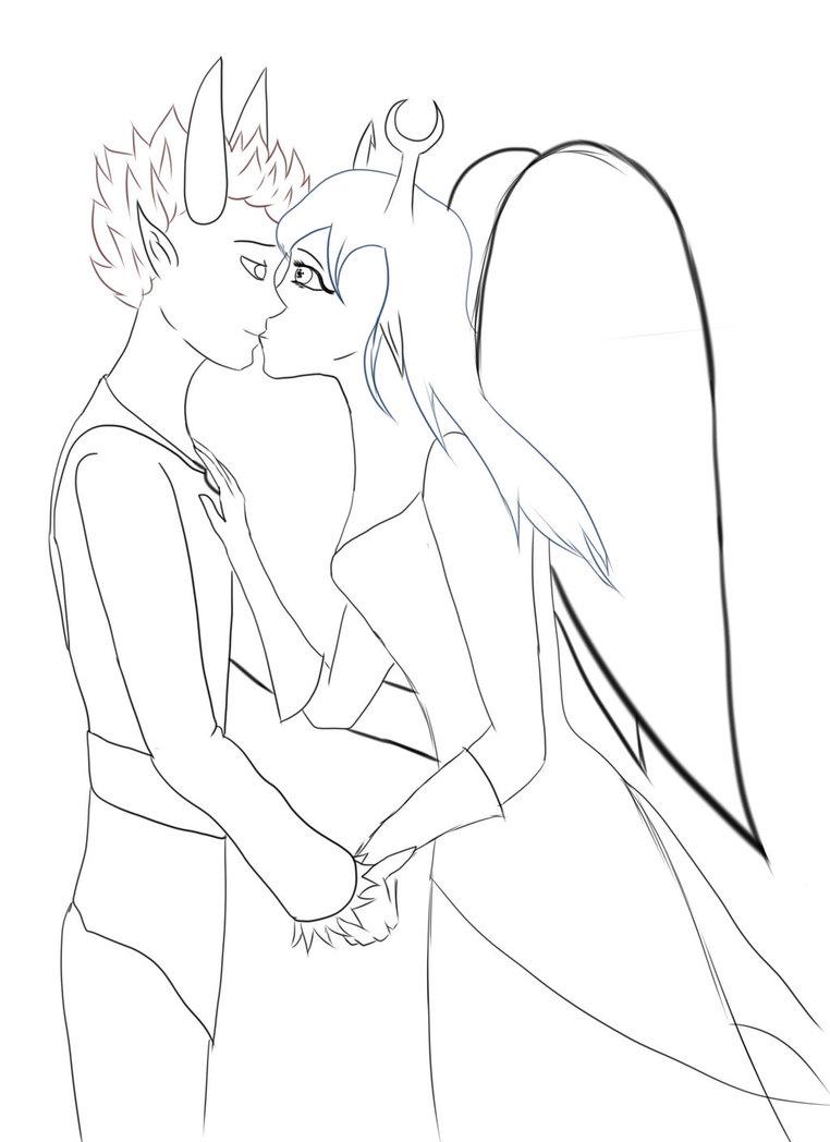 Drawn kisses vriska Celosia90 kiss WIP WIP Tavros