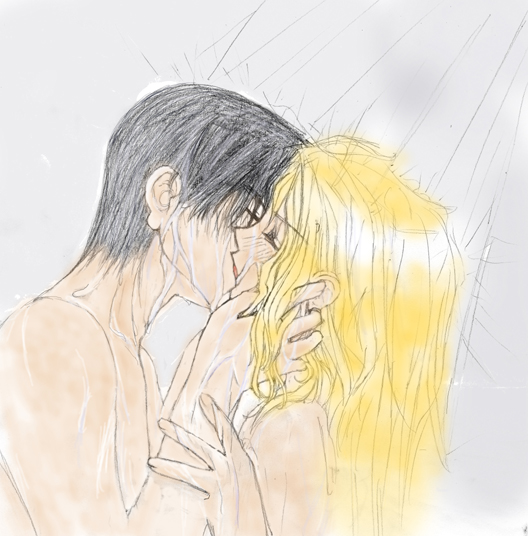 Drawn kisses wet Shower Wet Kiss