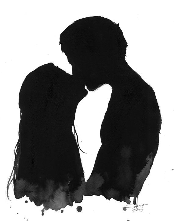 Drawn kisses wet Pinterest original Best #watercolor illustration