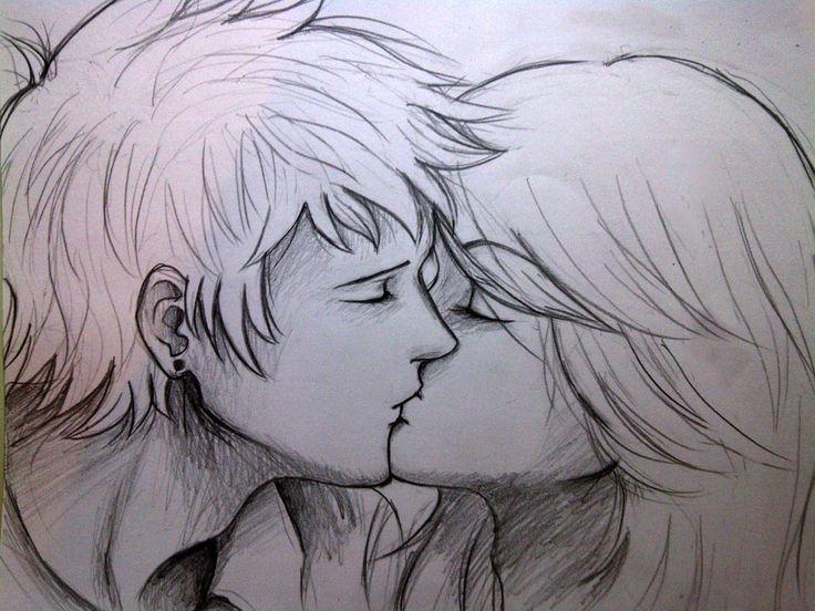 Drawn kissing #10