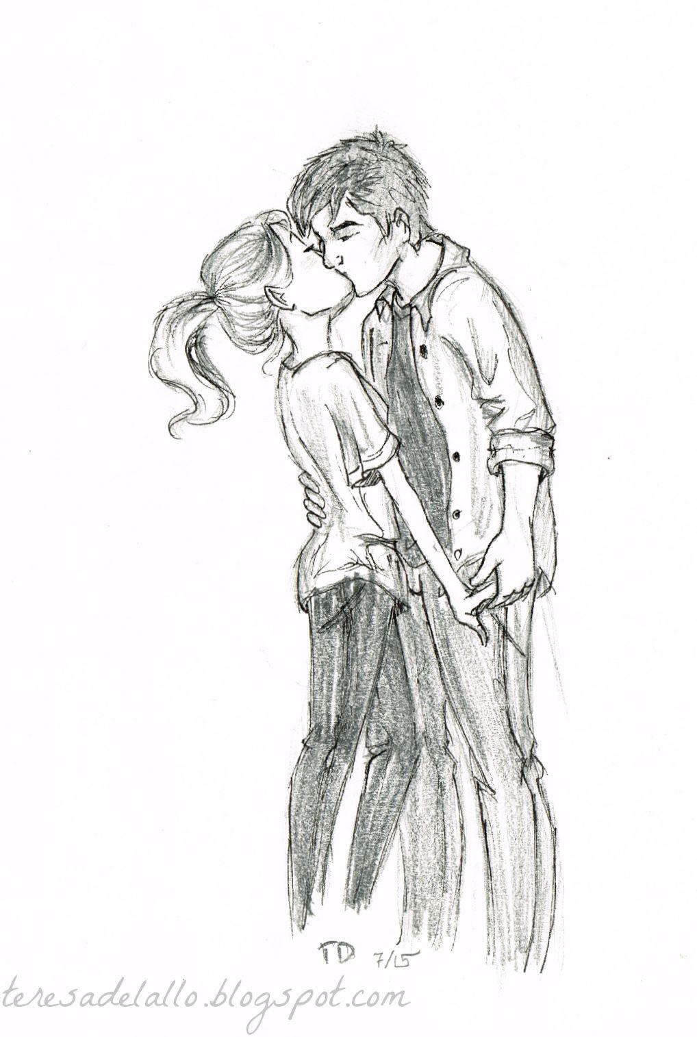 Drawn kissing Just  black really a