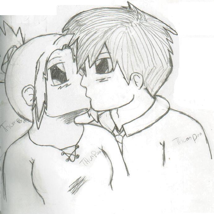 Drawn kissing Sissy1992 DeviantArt kissing drawing by
