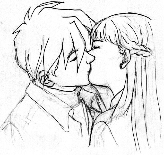 Drawn kissing Heatherbunny DeviantArt Relena Kiss by