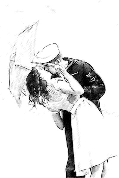 Drawn soldier romantic Kiss Rain more 108 on