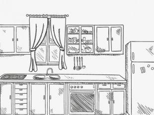 Drawn kitchen Kitchen Hand Hand tools free