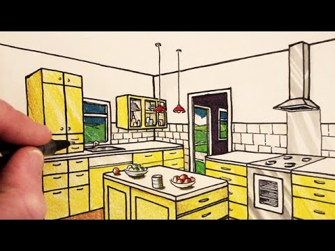 Drawn room kitchen room Perspective: in 2 Draw Room