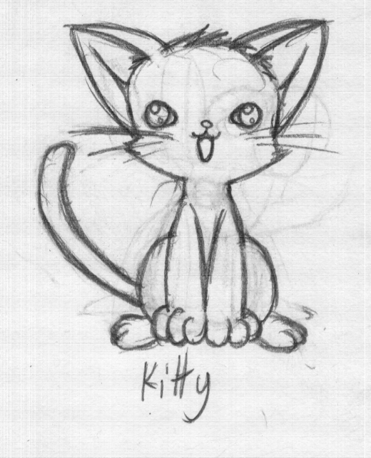 Drawn kitten Drawn cutest kitten rongs1234 by