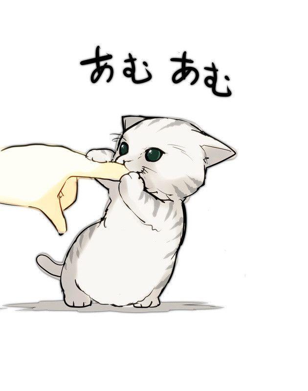 Drawn kitten anime Cute cute de bonitos is
