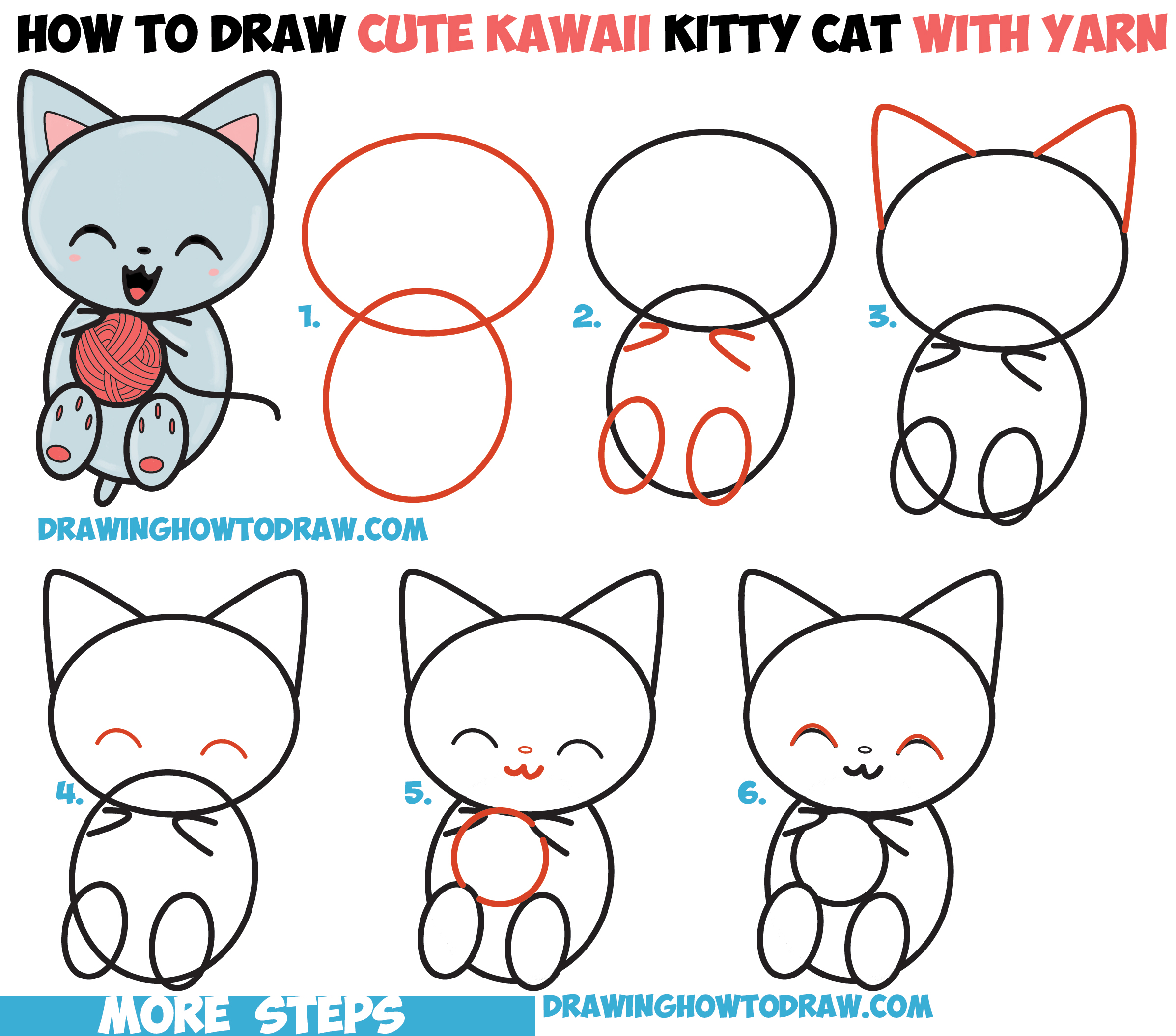 Drawn cat step by step #4