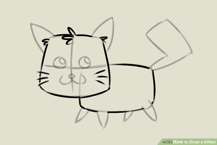 Drawn kitten A titled Draw wikiHow Step