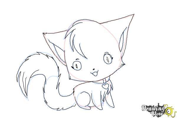 Drawn kitten chibi Kitten Draw to a DrawingNow