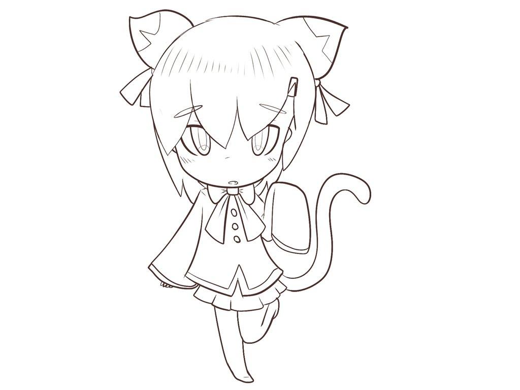 Drawn kitten chibi By on styles kitten Chibi
