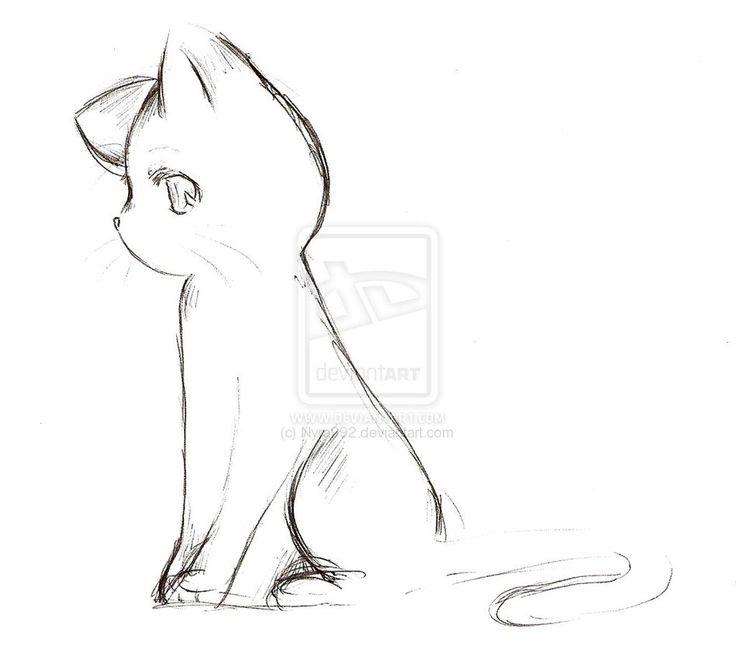Drawn kitten chibi SketchAnime cat Anime · 25+