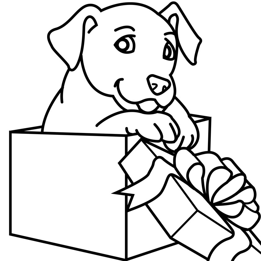 Drawn puppy color Animal Coloring Advertising Christmas Product