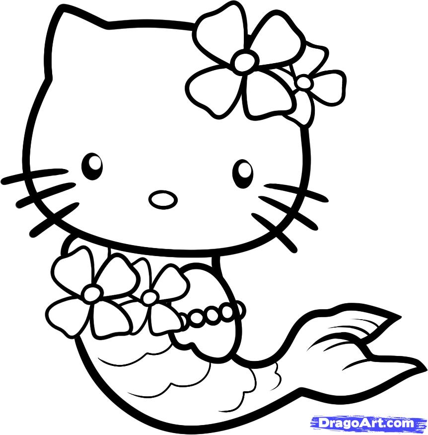 Drawn amd hello kitty Hello Characters Mermaid How to