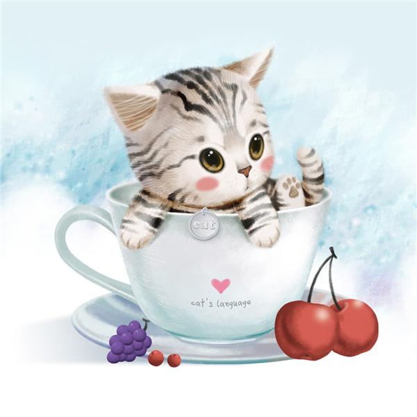 Drawn kitten cute pet Cat Draw Cute Draw Draw