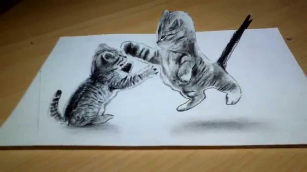 Drawn 3d art cute #2