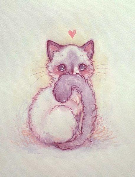 Drawn kitten cute pet Kitty Best on ThingsCrazy ideas