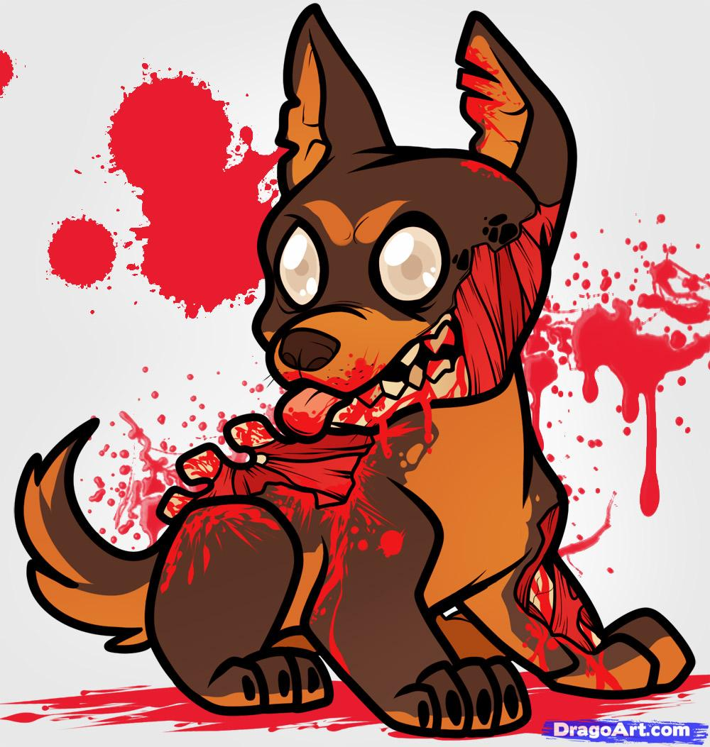 Drawn puppy kitten To how Zombie Step