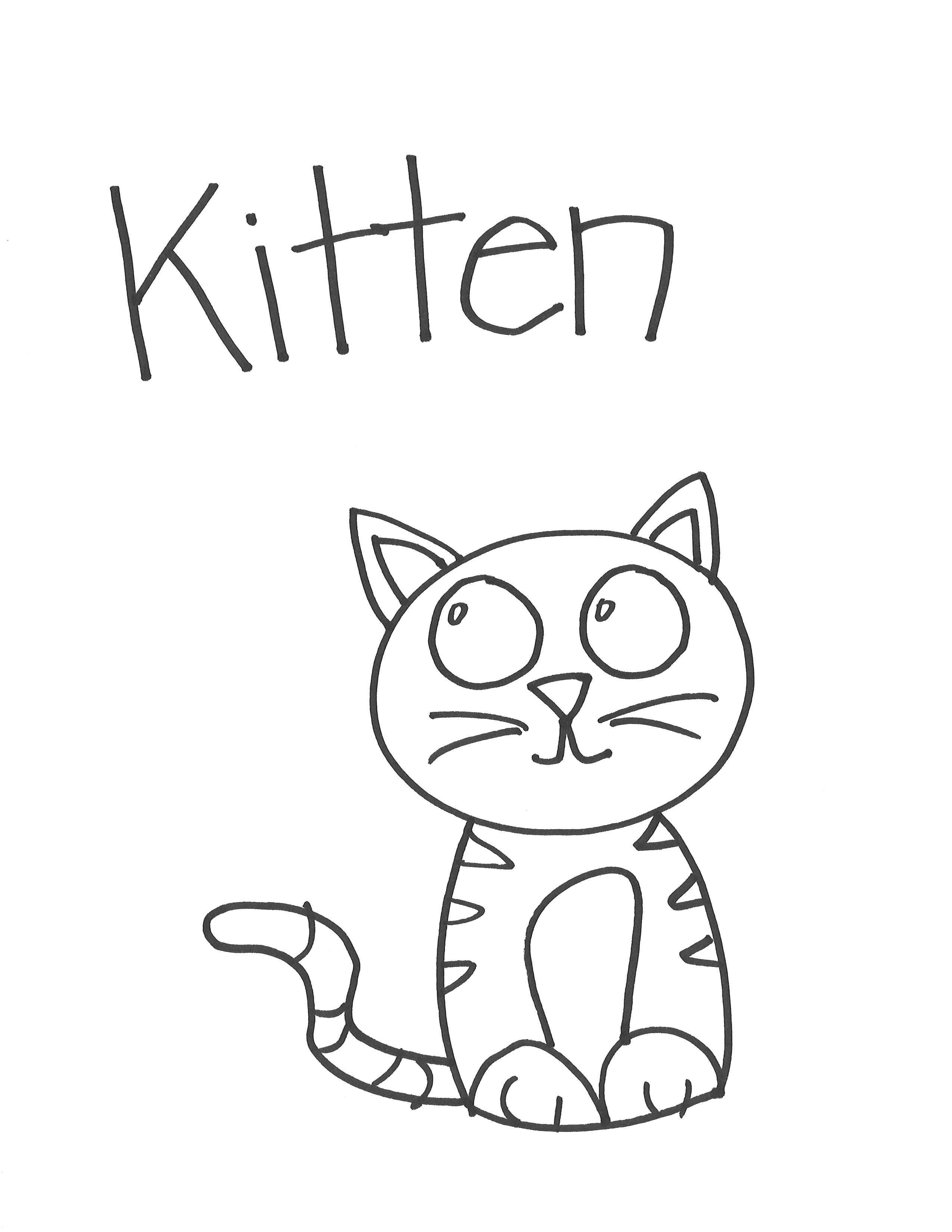 Drawn kitten easy #13