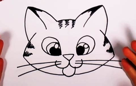 Drawn kitten easy #11