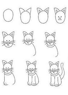 Drawn cat step by step #6