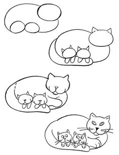 Drawn cat step by step #8