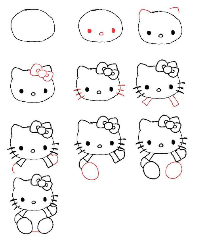 Drawn amd hello kitty Pinterest hello draw 178 to