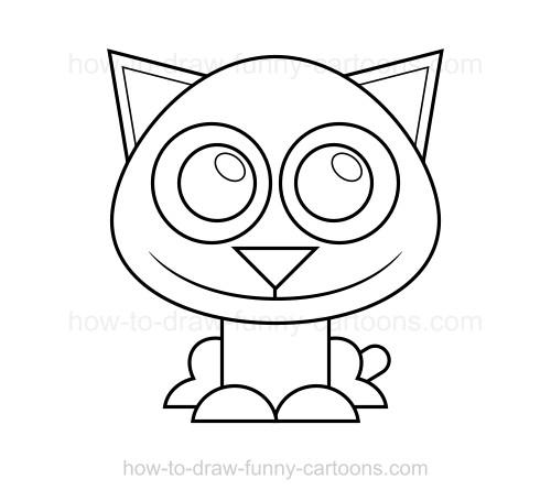 Drawn kittens Draw to kitten draw a