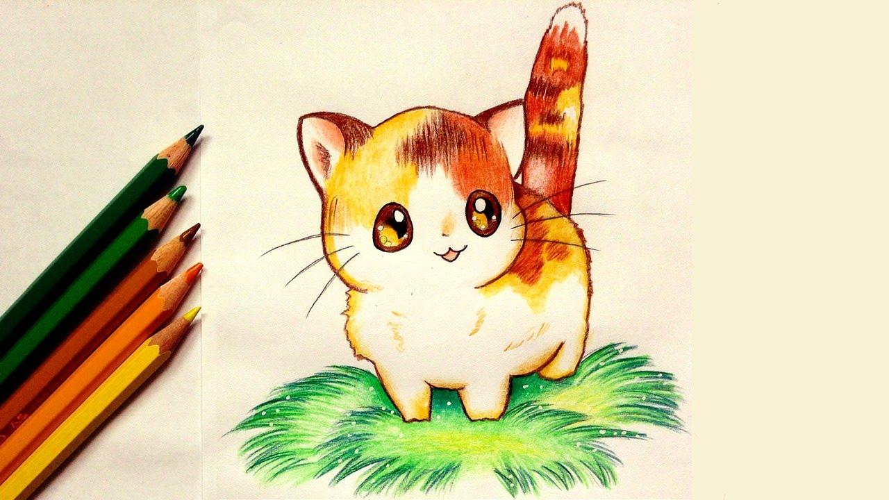 Drawn kittens YouTube Kitten a Kawaii