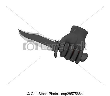 Drawn knife A 3d Illustration Stock knife
