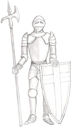 Drawn amour medieval Knight and Castles com/fantasyartschool/images/armoredknight drawings