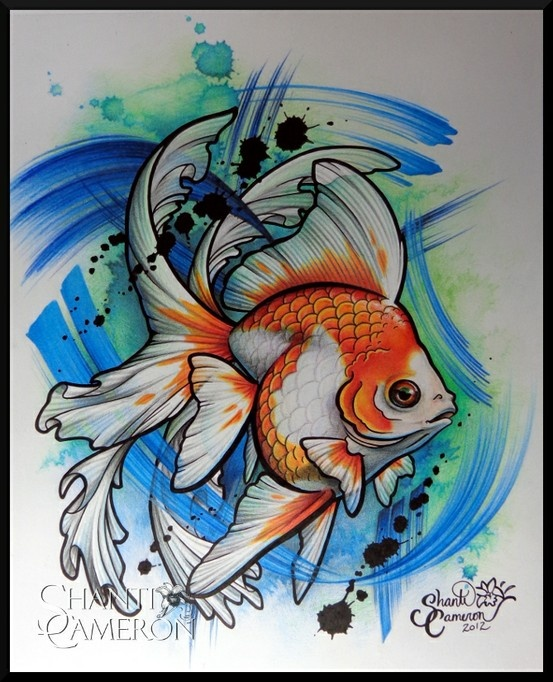 Drawn goldfish coloured fish And and Koi more Find