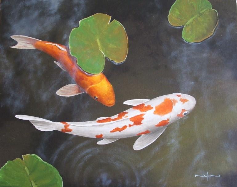 Drawn pond fish pond It Do Fish koi Today