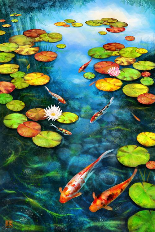 Drawn pond lily pond Ponds promote specifically ponds growth