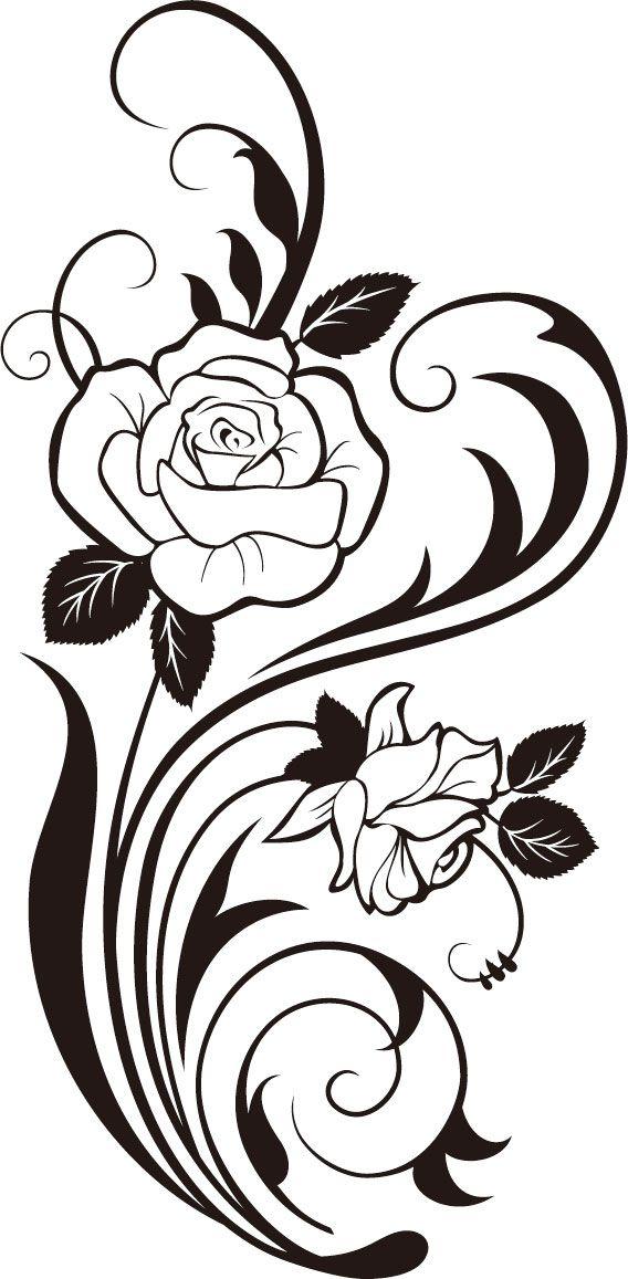 Drawn vine artistic #5