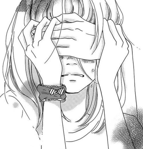 Drawn sad anime Manga Manga Geek Girl ideas