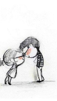 Drawn kopel black couple  <3 Drawings Cute for