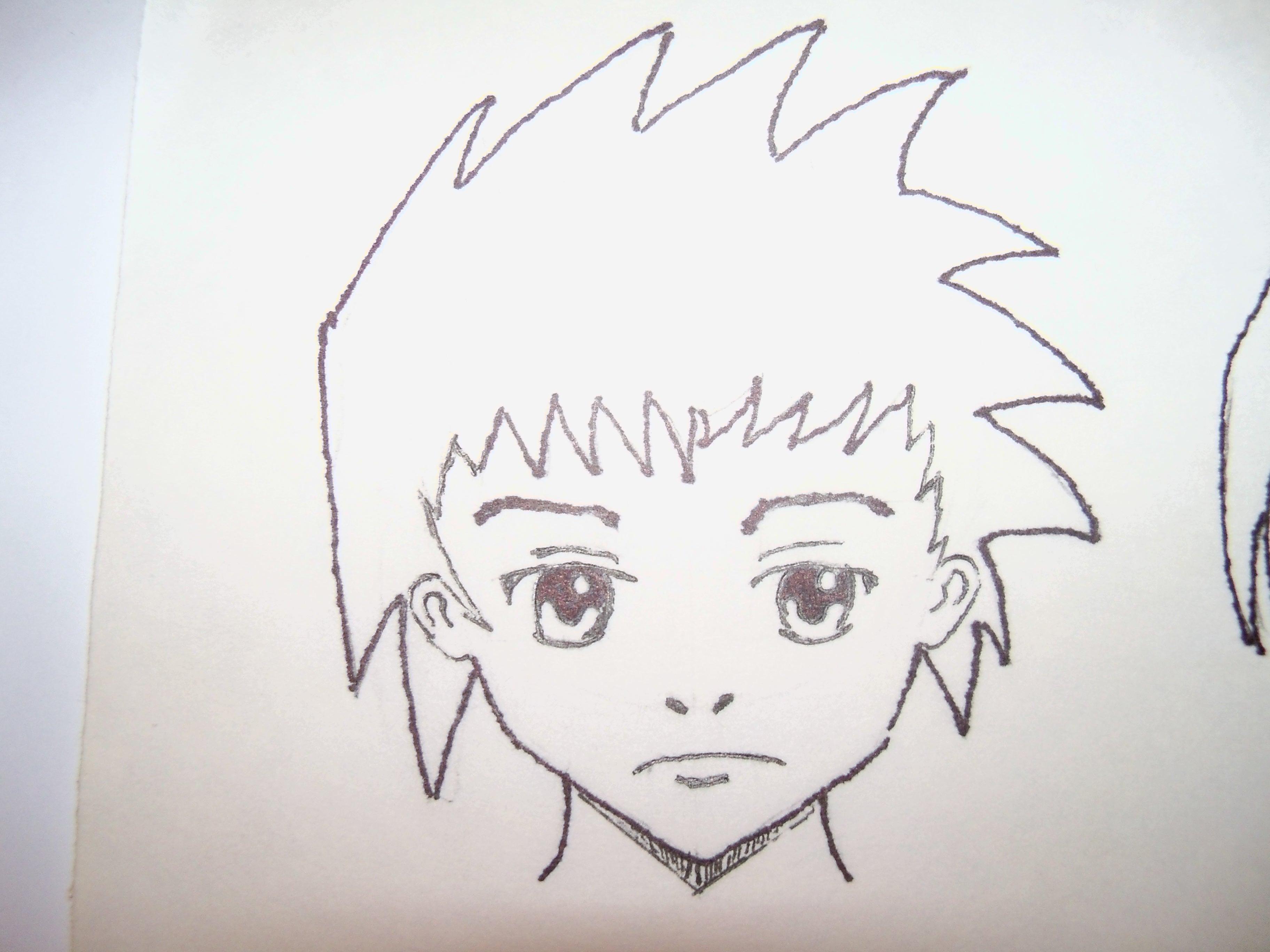 Drawn kopel boyfriend Moody Green : Haired Spiky