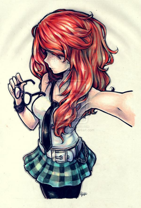 Drawn redhead chibi Redhead  #drawing Max While