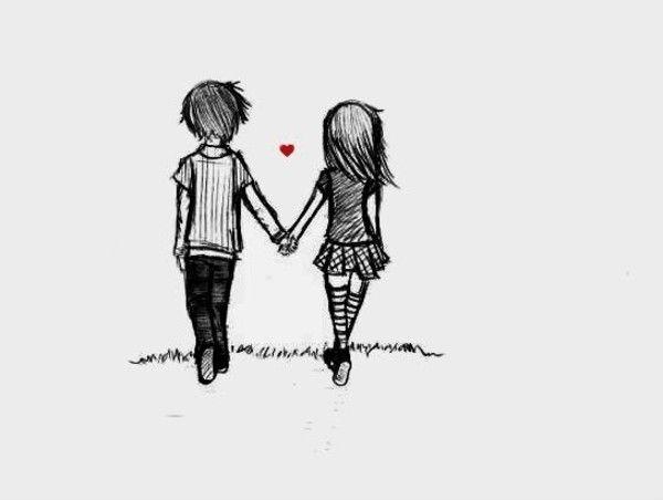 Drawn kopel simple Couple a ideas Pinterest be