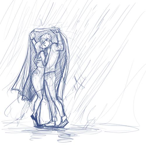 Drawn kopel simple Pinterest rain Kiss Sketches the