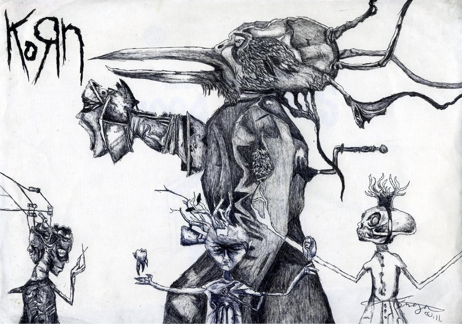 Drawn korn Album Art Untitled 2007 KoRn