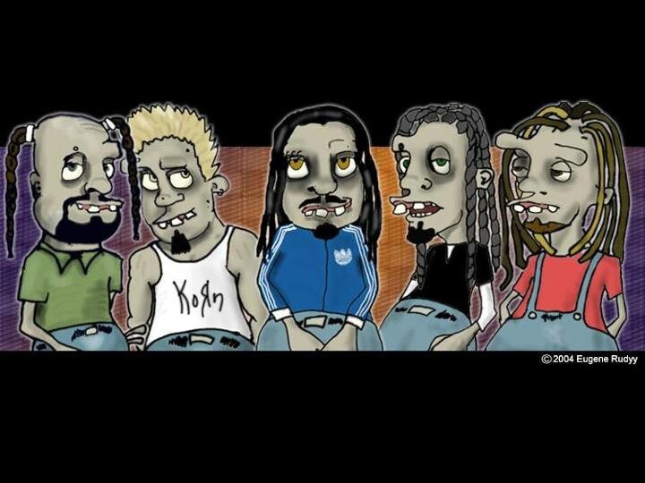 Drawn korn animation Dreads on Music Korn and