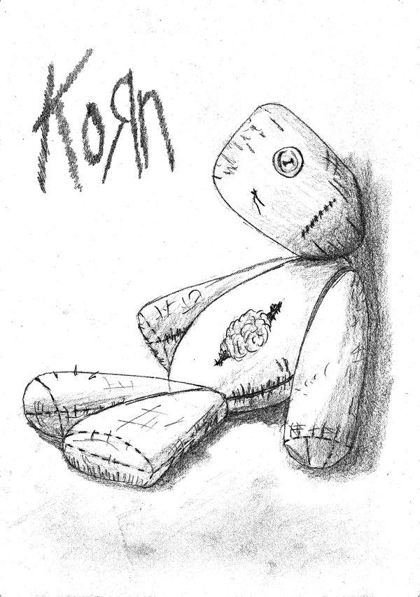 Drawn korn black and white By KORN II issues KORN