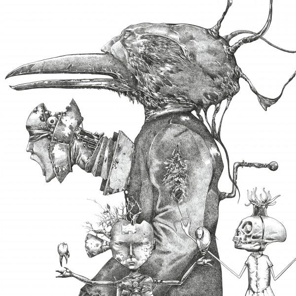Drawn korn black and white Korn UNTITLED