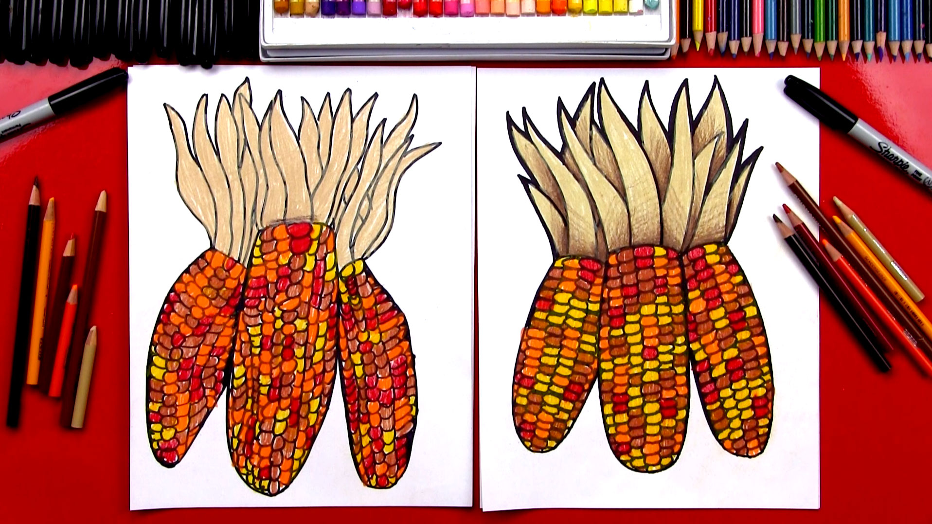 Drawn corn (Flint Corn) Kids  Indian