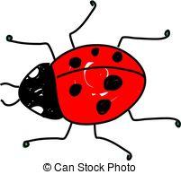 Drawn ladybug Ladybug 12 red  beetle