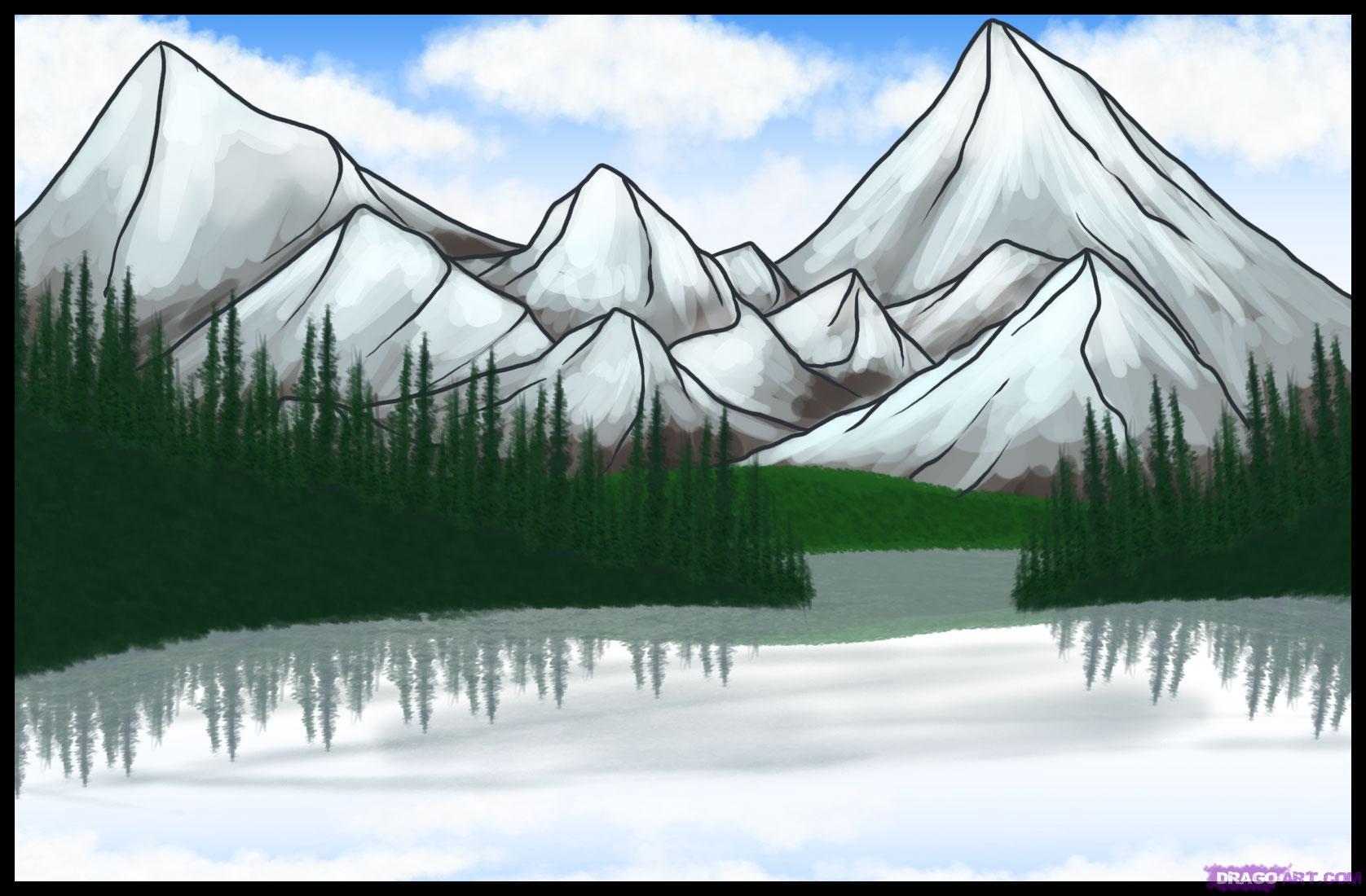 Drawn lake A draw by Step to