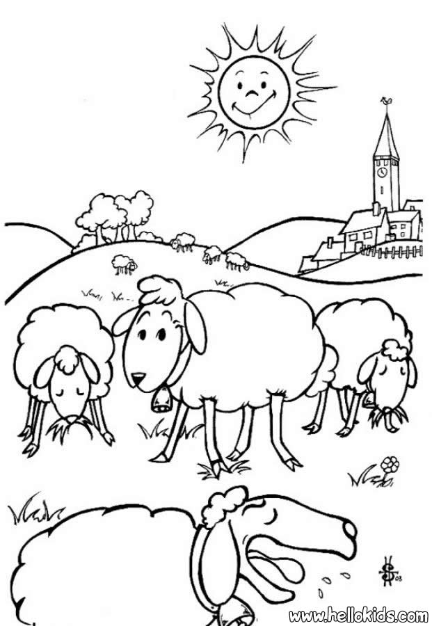 Drawn sheep coloring Coloring  albitrefamilylove Animal Sheep